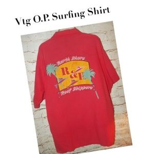 Vtg 80's O.P. Ocean Pacific Surfing Shirt Dated